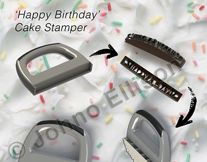 Happy Birthday Cake Stamper