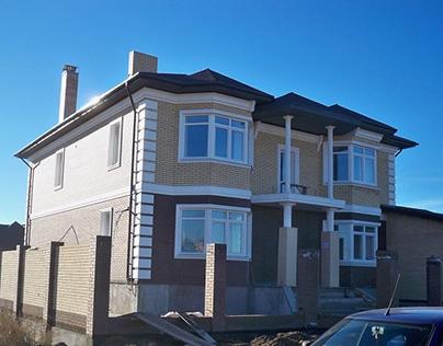 Фасад дома в классическом стиле, г. Ульяновск, 2008 г.