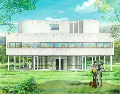 #archanime V01 Villa Savoye by Le Corbusier