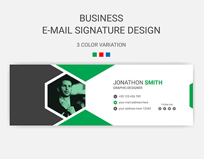 Business email signature design template