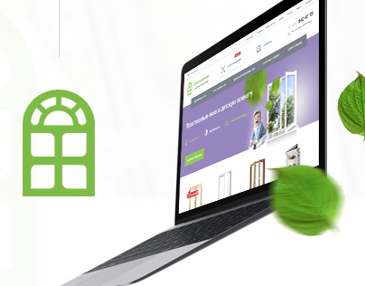 "Corporate website for ""Baltic windows"" company"