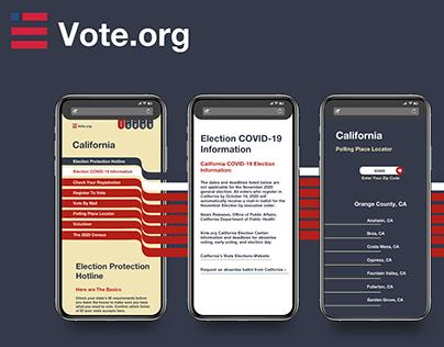 Vote.org Web & Mobile Webpage Design