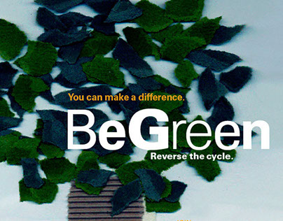 postcard__Be Green. AIGA