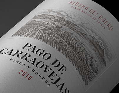 Pago de Carraovejas Labels illustrated by Steven Noble