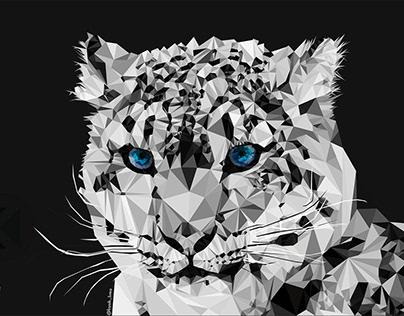 Low Poly Tigre Branco