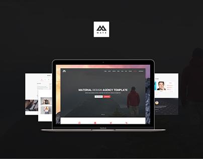 MATX - Material Design Agency Template