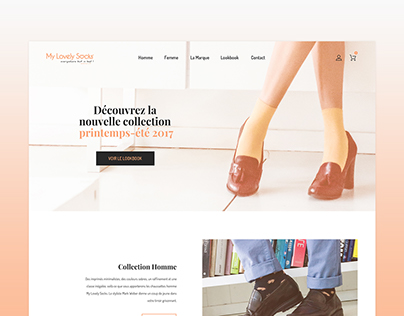 My Lovely Socks e-shop Redesign