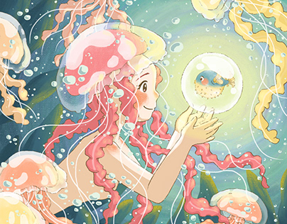 Fantasy Jellyfish Illustration