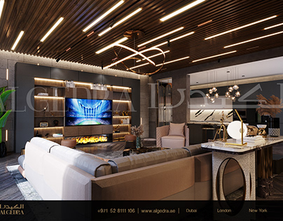 Luxurious and Modern Style Living Room Design