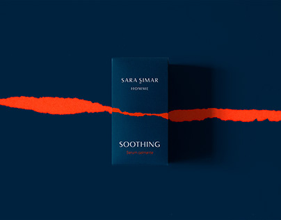 Sara Simar HOMME. Packaging design
