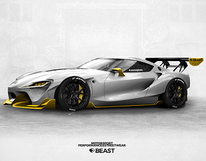 Toyota FT1 widebody | livery concept | by whitegraphic