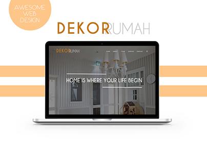 Awesome UI/UX Web Design - Dekor Rumah