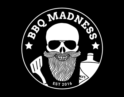 Visual identity and business card for BBQ enthusiast