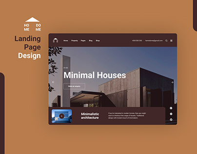 LANDING PAGE DESIGN - HOME DOME