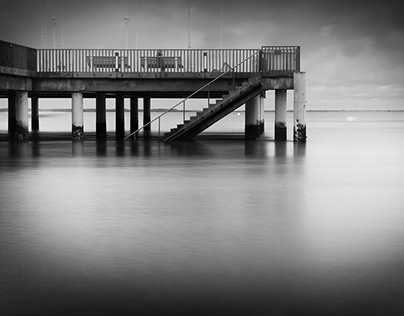 Arcachon in Black and White