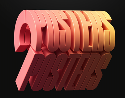 POSTERS Type | 3D motion