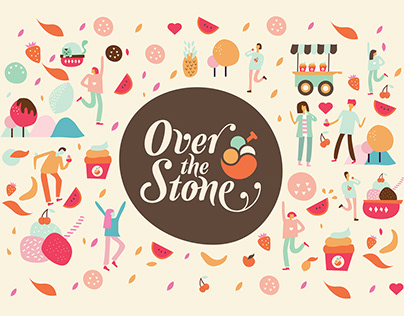 Over the Stone - Ice Cream Store Branding