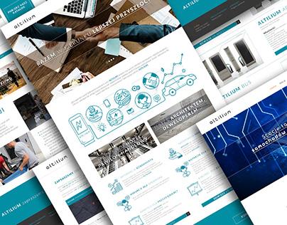 Altilium -website design