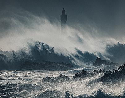 Stormy Ouessant Island