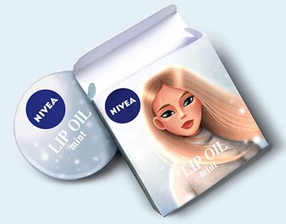 NIVEA. LIP OIL. Packaging concept