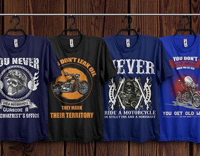 Motorcycle T-Shirts Bundle​​​​​​​ With Free Mockup