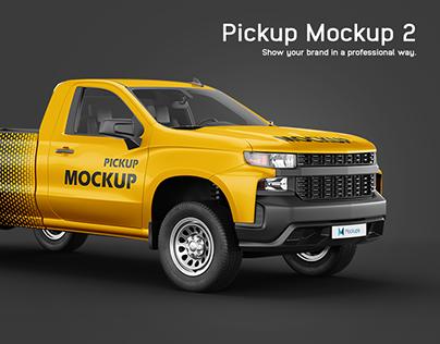 Chevrolet Silverado Pickup Mockup