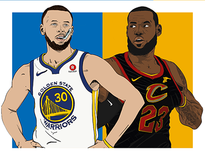 NBA Finals Player Illustrations