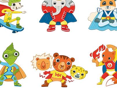 Superheroes for the Dynasty children's center