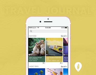 journi App - a beautiful travel journal