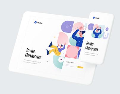 Invite Designers - Hero Website Concept