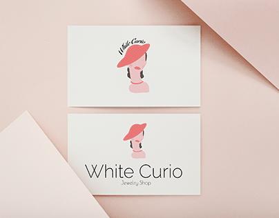 White Curio - logo for a Jewelry Brand