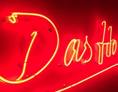 """Neon sign """"Das Hochhaus"""""""
