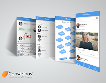 Social Networking App UI Design