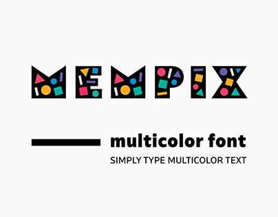 MEMPIX — Multicolor SVG Font