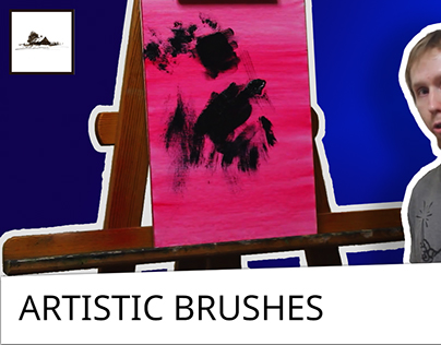 Artistic brushes for oil painting