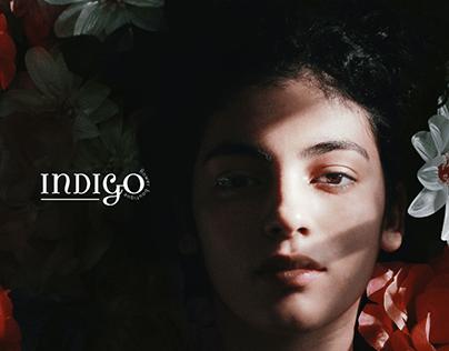 "Logotype for flower shop ""Indigo"""