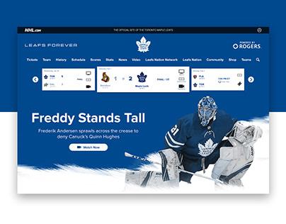 Toronto Maple Leafs Landing Page Design