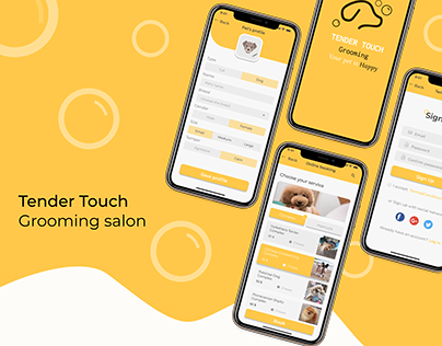 Mobile app for grooming salon