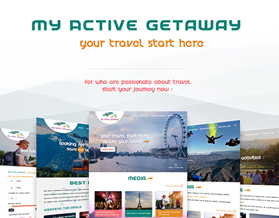 My Active Getaway - Logo,Website & Mobile Application