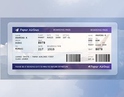 Boarding Pass (#dailyui)