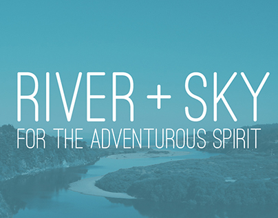 River + Sky Signage and Product Packaging