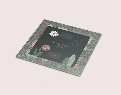 Design floral pour le jeu Monopoly