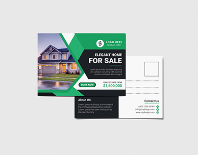 Real Estate Modern Postcard design vol-3