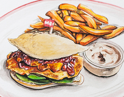 Delicious Food Illustrations