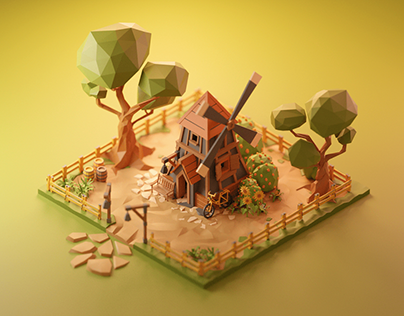 Windmill Animation - Low Poly