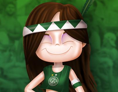 Mascote da torcida feminina do Guarani F.C.