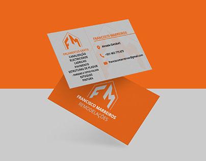 FM Remodelações - Logotipo + Cartão de Visita
