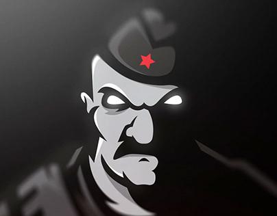 Partizan Belgrade fan mascot logo