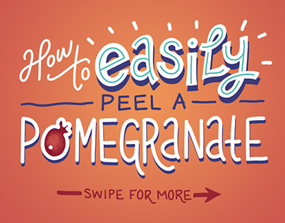 Infographic: How to easily peel a pomegranate
