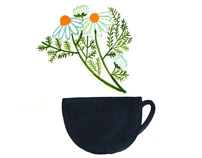 AYA Cafe loose tea branding